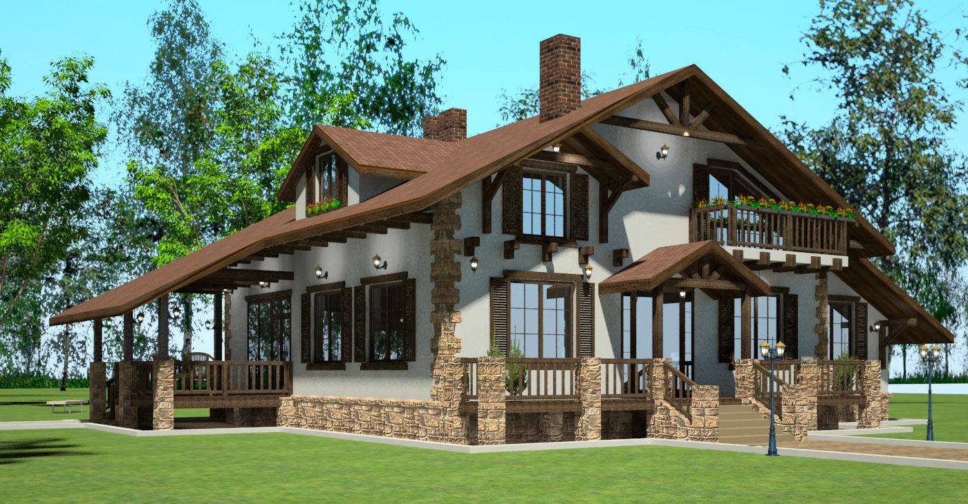 дома в швейцарском стиле фото